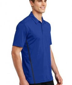 Sport-Tek Contrast PosiCharge Tough Polo Style ST620 - True Royal/Black - Model