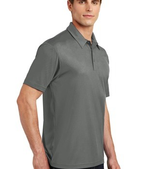 Sport-Tek Embossed PosiCharge Tough Polo – Dark Smoke Grey – Model