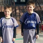 Sublimation baseball uniforms grey and blue kids team