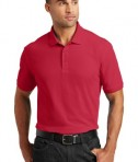 Port Authority Tall Core Classic Pique Polo Style TLK100 - Rich Red - Model
