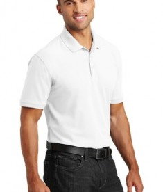 Port Authority Tall Core Classic Pique Polo Style TLK100 - White - Model