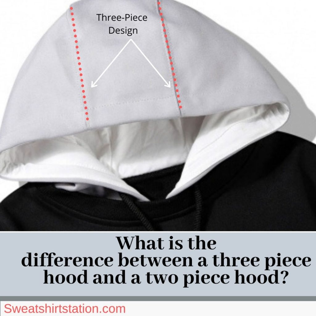 What is the difference between a three piece hood and a two piece hood?