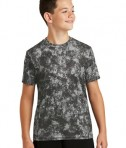Sport-Tek Youth Mineral Freeze Tee - Black - Front
