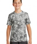Sport-Tek Youth Mineral Freeze Tee - Dark Smoke Grey - Front