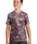 Sport-Tek Youth Mineral Freeze Tee - Deep Red - Front
