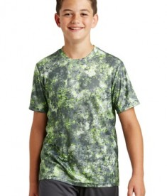 Sport-Tek Youth Mineral Freeze Tee - Lime Shock - Front