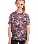Sport-Tek Youth Mineral Freeze Tee - Pink Raspberry - Front