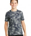 Sport-Tek Youth Mineral Freeze Tee - True Navy - Front