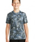 Sport-Tek Youth Mineral Freeze Tee - True Royal - Front