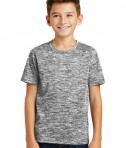 Sport-Tek Youth Posicharge Electric Heather Tee - Black Electric - Model