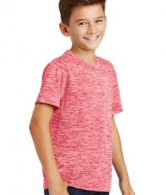 Sport-Tek Youth Posicharge Electric Heather Tee - Deep Red Electric - Model