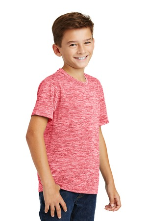 Sport-Tek Youth Posicharge Electric Heather Tee – Deep Red Electric – Model