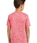 Sport-Tek Youth Posicharge Electric Heather Tee - Deep Red Electric - Back