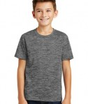Sport-Tek Youth Posicharge Electric Heather Tee - Grey-Black Electric - Model