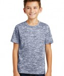 Sport-Tek Youth Posicharge Electric Heather Tee - True Navy Electric - Model
