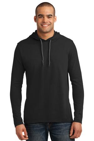Anvil 100% Ring Spun Cotton Long Sleeve Hooded T-Shirt Style 987