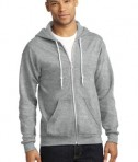 Anvil Full-Zip Hooded Sweatshirt Style 71600 Heather Grey