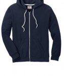 Anvil Full-Zip Hooded Sweatshirt Style 71600 Navy Front Flat
