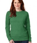 Anvil Ladies French Terry Crewneck Sweatshirt Style 72000L Heather Green