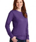 Anvil Ladies French Terry Crewneck Sweatshirt Style 72000L Heather Purple Angle