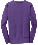 Anvil Ladies French Terry Crewneck Sweatshirt Style 72000L Heather Purple Back Flat