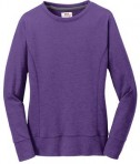Anvil Ladies French Terry Crewneck Sweatshirt Style 72000L Heather Purple Front Flat