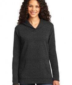 Anvil Ladies French Terry Pullover Hooded Sweatshirt Style 72500L Heather Dark Grey