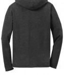 Anvil Ladies French Terry Pullover Hooded Sweatshirt Style 72500L Heather Dark Grey Back Flat