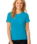 Anvil Ladies 100% Ring Spun Cotton T-Shirt Style 880 Caribbean Blue