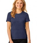 Anvil Ladies 100% Ring Spun Cotton T-Shirt Style 880 Heather Blue