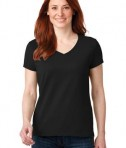 Anvil Ladies 100% Ring Spun Cotton V-Neck T-Shirt Style 88VL Black
