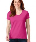 Anvil 88vl Ladies Cotton Neck Hot Pink