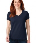 Anvil 88vl Ladies Cotton Neck Navy
