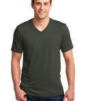 Anvil 100% Ring Spun Cotton V-Neck T-Shirt Style 982 City Green