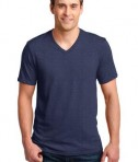 Anvil 100% Ring Spun Cotton V-Neck T-Shirt Style 982 Heather Blue