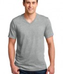 Anvil 100% Ring Spun Cotton V-Neck T-Shirt Style 982 Heather Grey