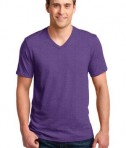 Anvil 100% Ring Spun Cotton V-Neck T-Shirt Style 982 Heather Purple