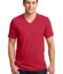 Anvil 100% Ring Spun Cotton V-Neck T-Shirt Style 982 Red
