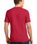 Anvil 100% Ring Spun Cotton V-Neck T-Shirt Style 982 Red Back