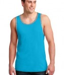 Anvil 986 Ring Spun Cotton Tank Top Caribbean Blue/Heather Grey