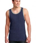 Anvil 986 Ring Spun Cotton Tank Top Heather Blue/Heather Grey