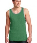 Anvil 986 Ring Spun Cotton Tank Top Heather Green/Heather Grey