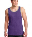 Anvil 986 Ring Spun Cotton Tank Top Heather Purple/Heather Grey