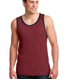 Anvil 986 Ring Spun Cotton Tank Top Independence Red/Navy