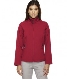 Ash City - Core 365 Ladies' Cruise Two-Layer Fleece Bonded Soft Shell Jacket Classic Red