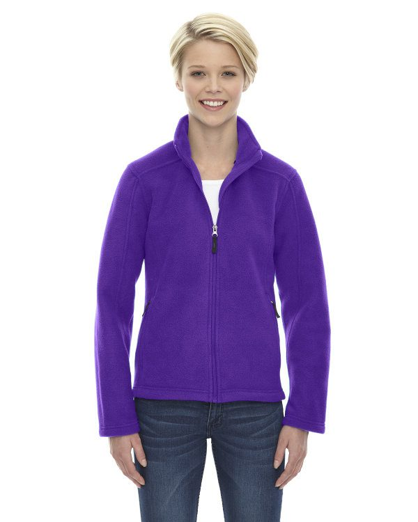 Ash City - Core 365 Ladies' Journey Fleece Jacket Campus Purple