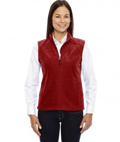 Ash City - Core 365 Ladies' Journey Fleece Vest Classic Red