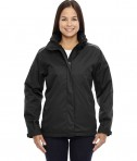 Ash City - Core 365 Ladies' Region 3-in-1 Jacket with Fleece Liner Black