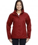 Ash City - Core 365 Ladies' Region 3-in-1 Jacket with Fleece Liner Classic Red