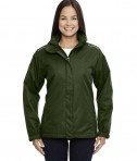Ash City - Core 365 Ladies' Region 3-in-1 Jacket with Fleece Liner Forest Green